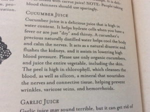 vegetable juicing tips Cucumber